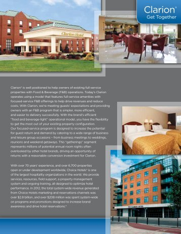 Clarion® - Choice Hotels Franchise