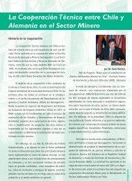 La Cooperación Técnica entre Chile y Alemania en el Sector Minero