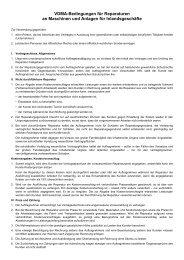 VDMA-Bedingungen für Reparaturen an Maschinen und Anlagen ...