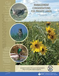 Management Considerations for Private Lands - North Dakota Game ...