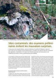 Sites contaminés - Hintermann & Weber AG