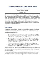 low-income employees in the united states - Families and Work ...