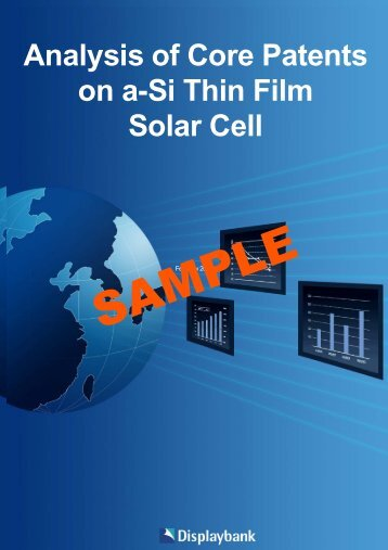 Analysis of Core Patents on a-Si Thin Film Solar Cell - Displaybank