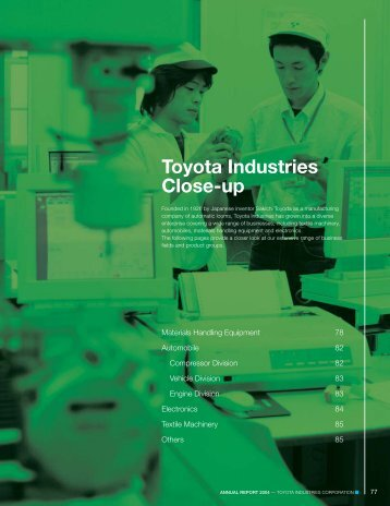 Annual Report 2004 - Toyota Industries Corporation