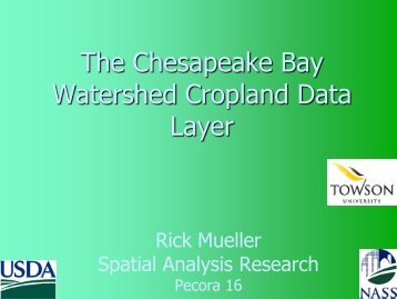 The Chesapeake Bay Watershed Cropland Data Layer - National ...