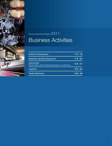 Business Activities - Toyota Industries Corporation