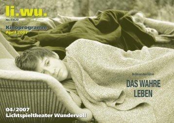 DAS WAHRE LEBEN - Lichtspieltheater Wundervoll