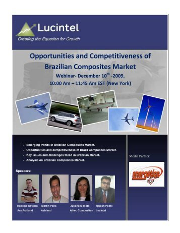 Opportunities and Competitiveness of Brazilian ... - Lucintel