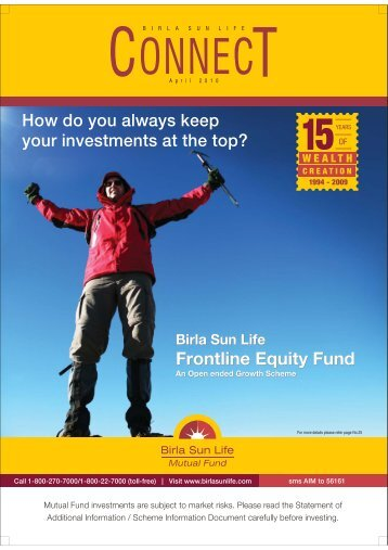 Connect for the Month of April 2010 - Birla Sun Life Mutual Fund