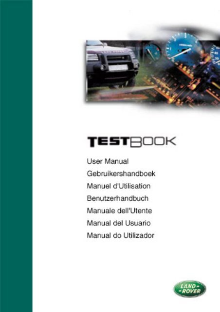 Land Rover TestBook User Manual - Eng - Internet-Tools co uk
