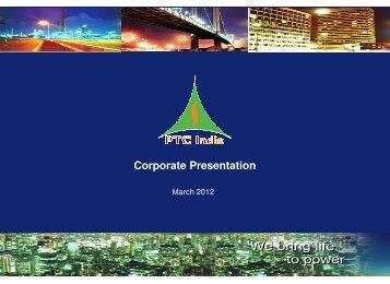Corporate Presentation - PTC India Limited
