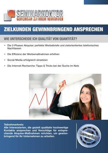 zielkunden gewinnbringend ansprechen - Seminarkontor GmbH