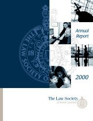 Report: Annual Report, 2000 - The Law Society of British Columbia
