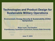 Technologies and Product Design for Sustainable Military ... - E2S2