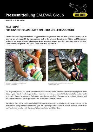Klettern ? Für unsere Community ein urbanes Lebensgefühl - Salewa