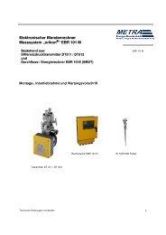 BA EBR 101M deutsch - METRA Energie