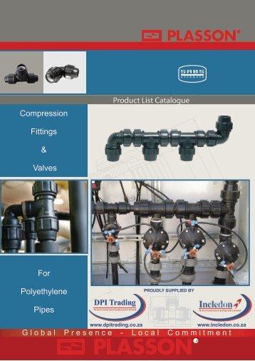 Plasson Compression Fittings PN16 SA Catalogue - Incledon