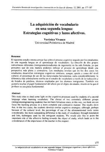 La Adquisición de Vocabulario en una Segunda Lengua ...