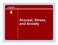 Arousal, Stress, and Anxiety