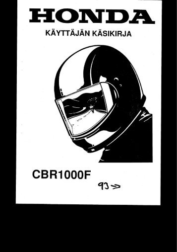 CBR1000F 1993-2000 käsikirja (.pdf, 2.39 MB) - Honda