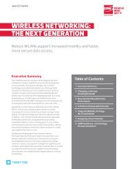 wireless networking: .. the next generation.. - cdw healthcare communit