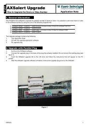 AXSalert Upgrade - Visonic Technologies