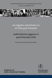 Los legados autoritarios en el Chile post Pinochet - Institute of Latin ...
