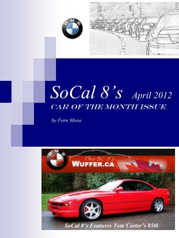 April 2012 Car of the Month