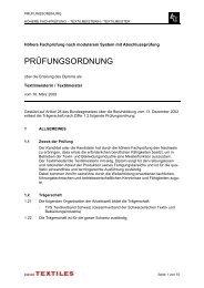 Prüfungsordnung HFP Textilmeister - Textilverband Schweiz