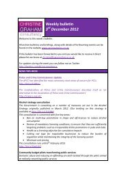 Weekly bulletin 3 December 2012 - Christine Graham Consultancy