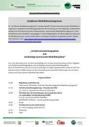 Fachforum VEP - Veranstaltungsdokumentation - VRS