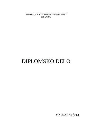 DIPLOMSKO DELO - Visoka Åola za zdravstveno nego Jesenice