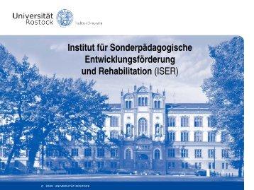 Institut für Sonderpädagogische Entwicklungsförderung und ...