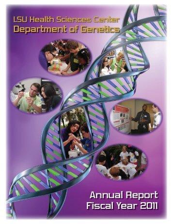 Department of Genetics FY 2011 Annual Report - School of Medicine