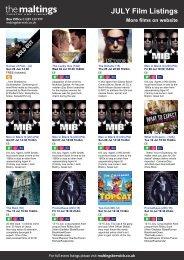 JULY Film Listings More films on website - The Maltings