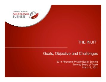 THE INUIT Goals, Objective and Challenges