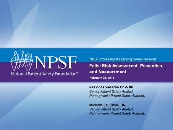 Falls: Risk Assessment, Prevention, and Measurement