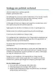 Innledning v/tillitsvalgt Svein Davidsen - El og it forbundet