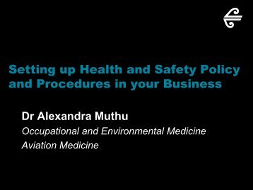 Setting up Health and Safety Policy and Procedures in your Business