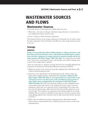 SECTION 5: Wastewater Sources and Flows - Onsite Sewage ...