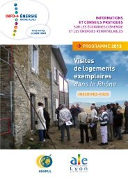 Visites de logements exemplaires dans le Rhône - ALE