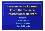 Lessons to be Learned From the Tobacco International ... - apapa
