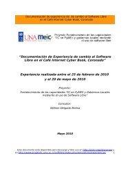 """""""Documentación de Experiencia de cambio al Software Libre en el ..."""