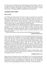 """""""Im Herzen der Stadt"""". - Probeethovenhalle.de"""