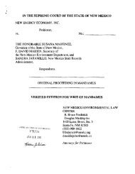 Petition NM Supreme Court for Writ of Mandamus - New Mexico ...