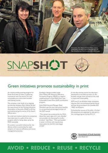 Zero Waste SA – REAP Snapshot PIAA - SA.Gov.au