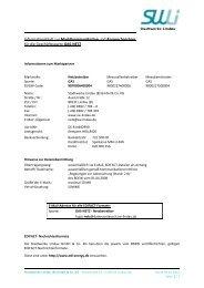 Informationsblatt zur Marktkommunikation und Ansprechpartner für ...