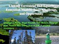 Linking Terrestrial and Aquatic Ecosystem Models ... - EM-1 Project