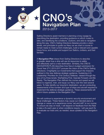 Navigation Plan 2013-2017 - U.S. Navy