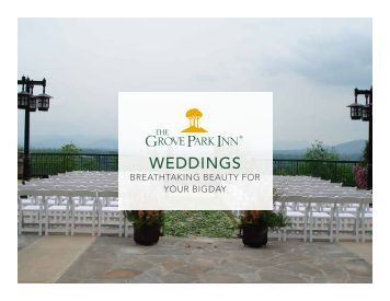 WEDDINGS - Grove Park Inn